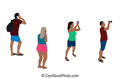 Colorfull Silhouettes of People Vector Illustration. EPS10