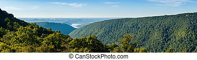 View from Overlook in Snake Hill WMA in WV