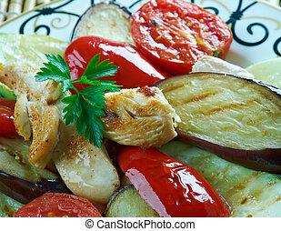 Azerbaijan dish - sadzh - Azerbaijan dish,mix of grilled...