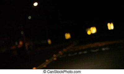 road curve at night