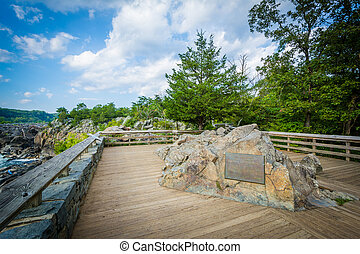 Overlook of Great Falls at Olmsted Island at Chesapeake &...