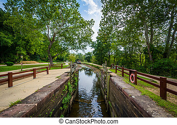 The C & O Canal, at Chesapeake & Ohio Canal National...