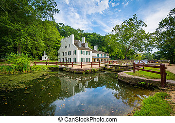 The C & O Canal, and Great Falls Tavern Visitor Center, at...