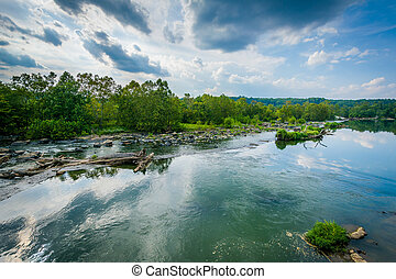 View of the Potomac River at Great Falls, Chesapeake & Ohio...