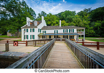 The Great Falls Tavern Visitor Center, at Chesapeake and...