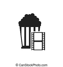 tape record with cinematographic icon vector illustration...