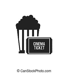 pop corn with cinematographic icon vector illustration...