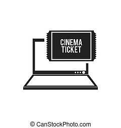 cinema online technology icon vector illustration design