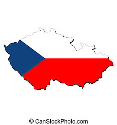 Czech Republic map flag - map of Czech Republic with their...