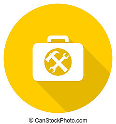 toolkit flat design yellow web icon