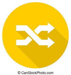 aleatory flat design yellow web icon - aleatory flat design...