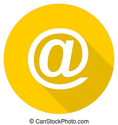 email flat design yellow web icon - email flat design yellow...
