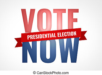 vote now presidential election symbol america USA