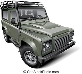 British off-road utility vehicle - High quality vector...