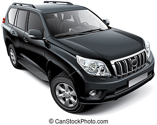 Japanese mid-size luxury SUV - High quality vector image of...