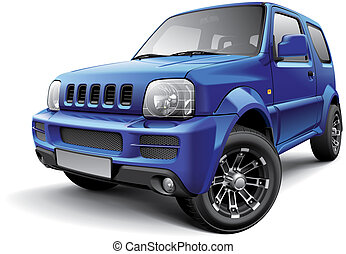 Japanese off-road mini SUV - High quality vector image of...