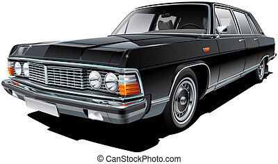 Vintage Soviet limousine - High quality vector image of...