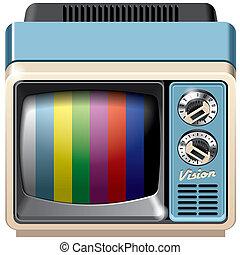 Vintage television receiver icon - Vector icon of vintage...