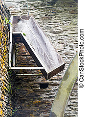 Chute for water wheel - Chute that fed old overshot water...