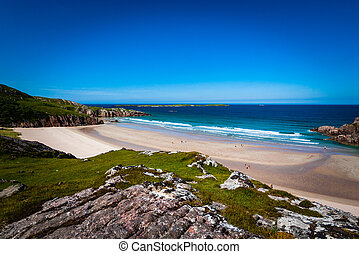 Beach cove in Scotland