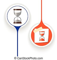 Two vector objects and sand glass