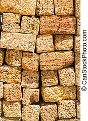 Natural material for the construction of coquina