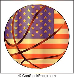 Basketball Stars And Stripes - A stars and stripes...