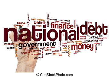 nacional, deuda, palabra, nube