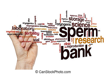 Sperm bank word cloud concept