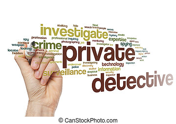 Private detective word cloud concept