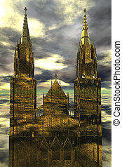 cathedral - digital rendering of a cathedral