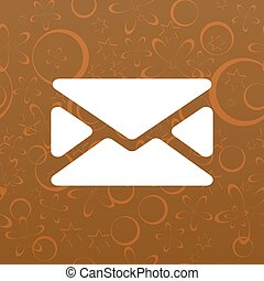 Flat style icon of envelope. E-mail