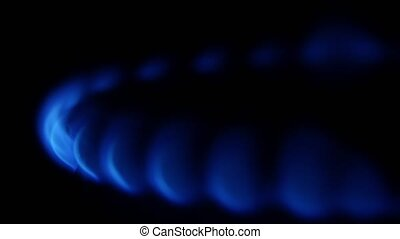 Blue flame Close up - Blue flame, fire, blue flame, cooking...