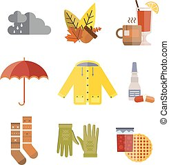 Collection of autumn clothes items Clothes related to autumn...