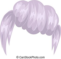 Vector woman hairstyle silhouette - Vector design of...