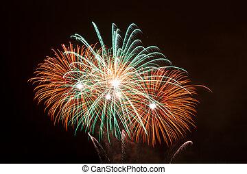 Fireworks, Santurtzi, Bizkaia, Spain