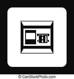 ATM bank cash machine icon, simple style - icon in simple...