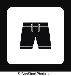 Shorts for swimming icon, simple style - icon in simple...