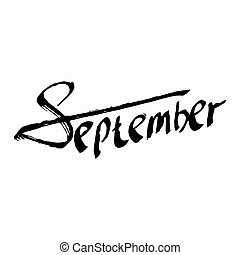 September. Composition Drawing. Perfect Hand Drawn...