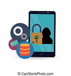 Cyber security system and media design - Smartphpne hacker...