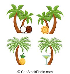 Pineapple tree Clipart Vector and Illustration. 375 ...