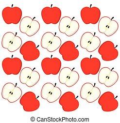 Apples fruits background design