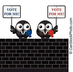 Vote for me politicians - Left and right wing politicians...