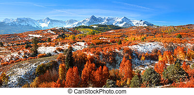 Dallas divide - Panoramic view of autumn landscape at Dallas...