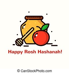 Rosh Hashanah vector illustration - Rosh Hashanah greeting...