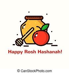 Rosh Hashanah vector illustration - Rosh Hashanah greeting...