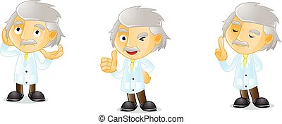 Mr Genius happy mascot vector art
