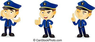 Policeman happy mascot vector art