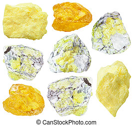 collection from specimens of sulfur ore - collection from...