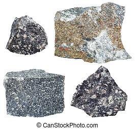 espécimes,  andesite, cobrança, rocha